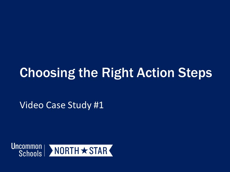 Choosing the Right Action Steps