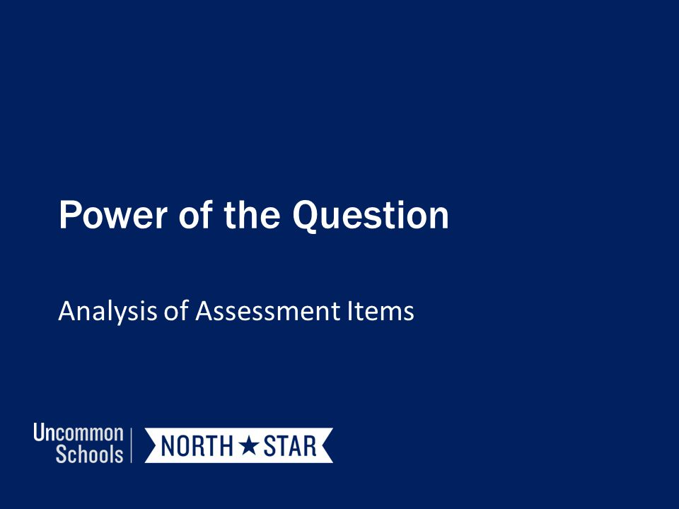 Analysis of Assessment Items