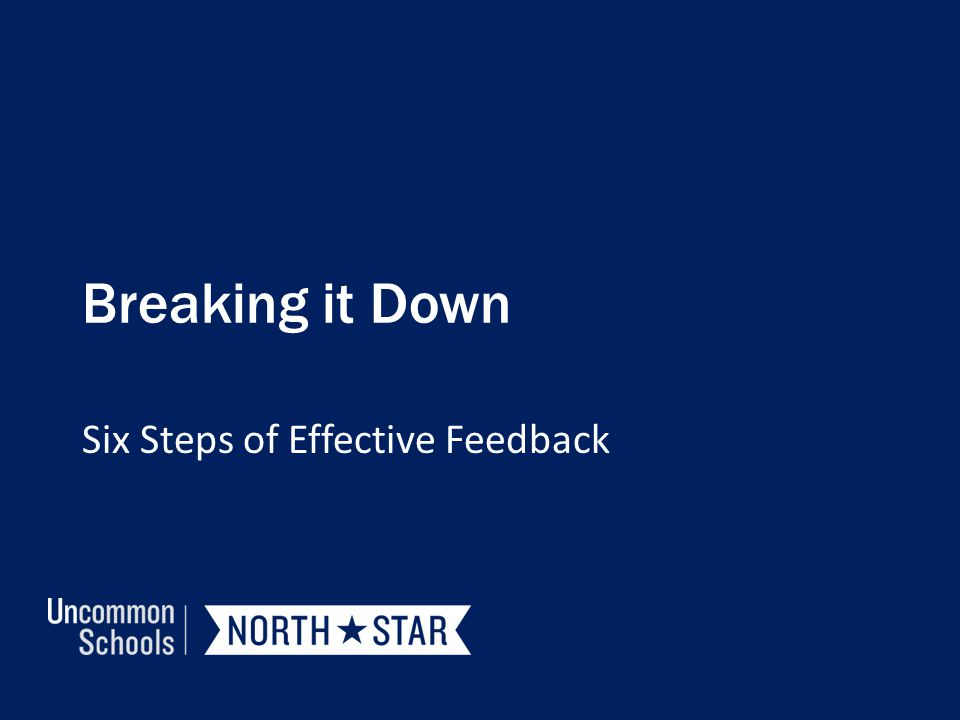 Six Steps of Effective Feedback