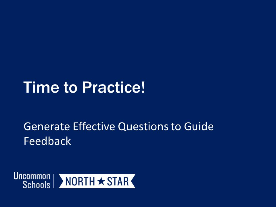 Generate Effective Questions to Guide Feedback