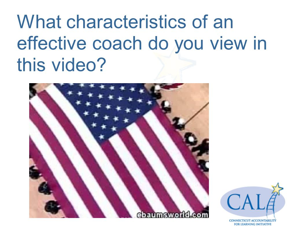 What characteristics of an effective coach do you view in this video