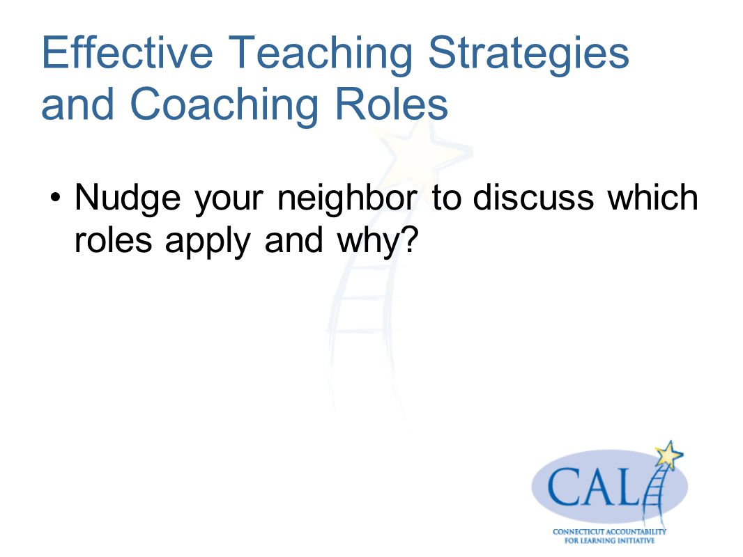 Effective Teaching Strategies and Coaching Roles