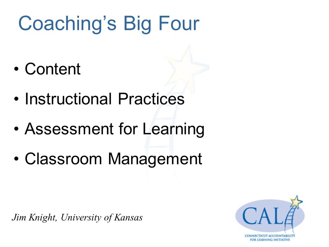 Coaching's Big Four Content Instructional Practices