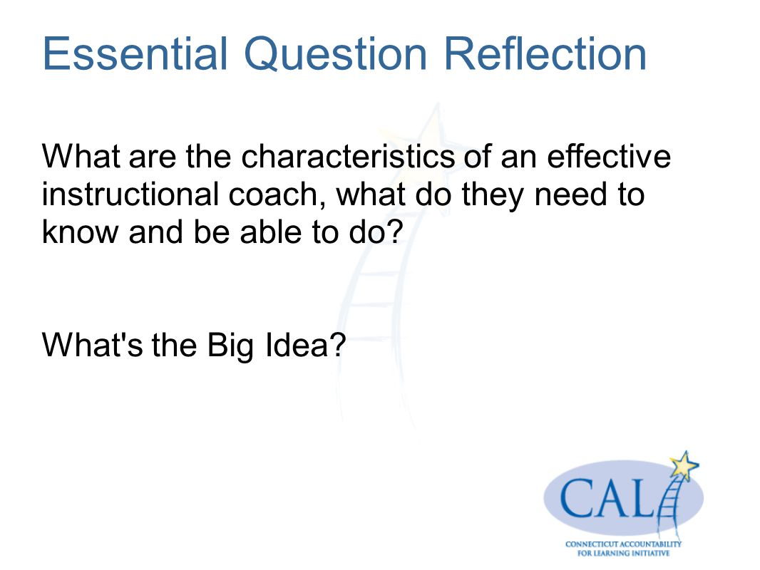 Essential Question Reflection