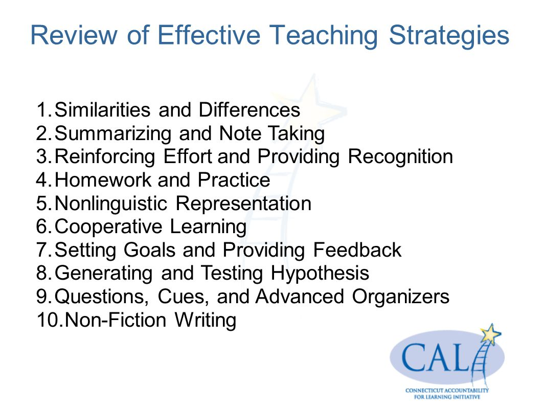Review of Effective Teaching Strategies