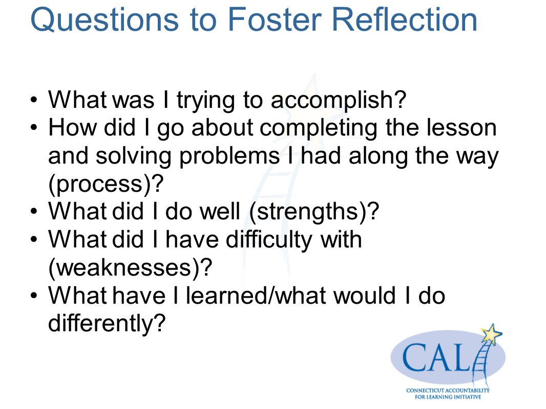 Questions to Foster Reflection