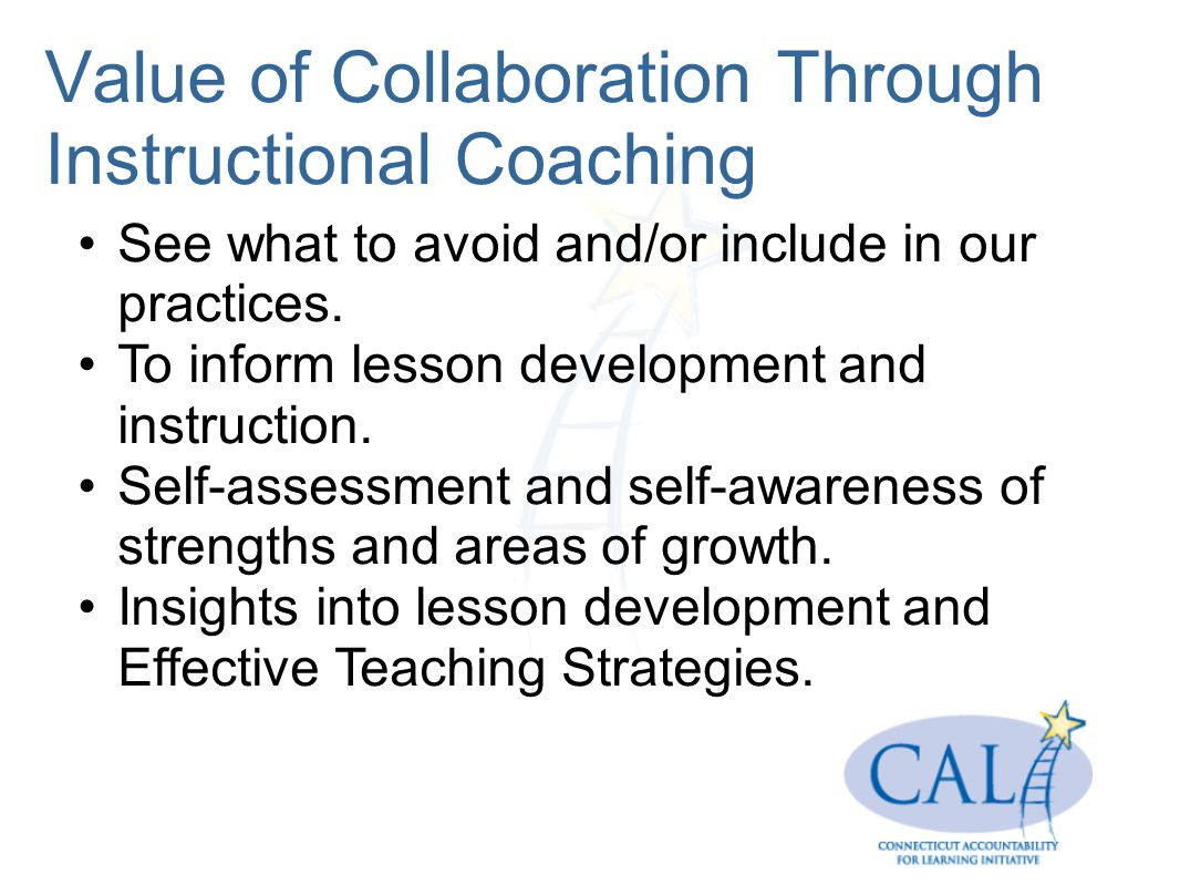 Value of Collaboration Through Instructional Coaching