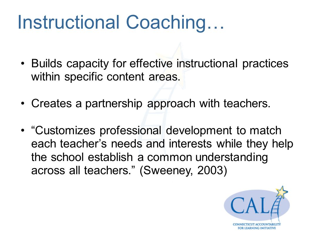 Instructional Coaching…