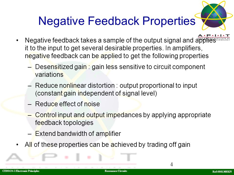 Negative Feedback Properties