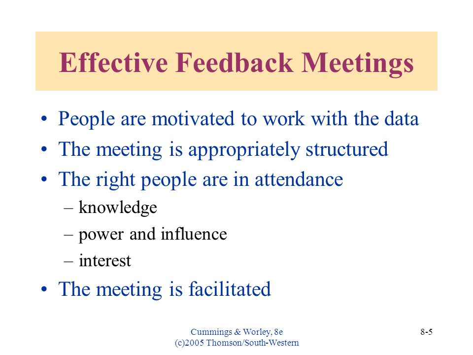 Effective Feedback Meetings