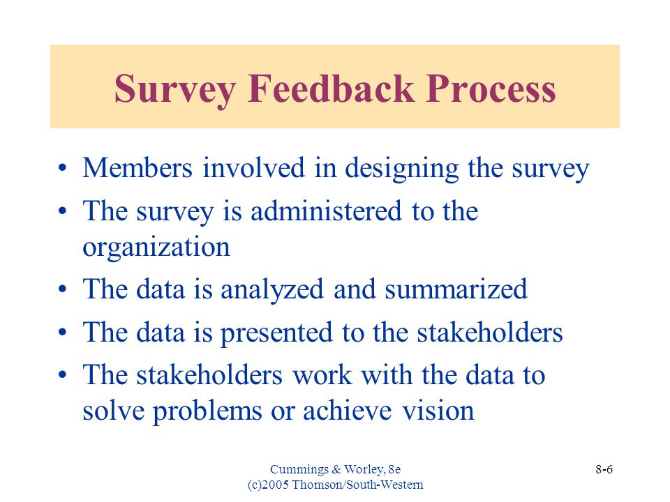 Survey Feedback Process