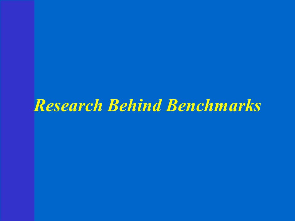 Research Behind Benchmarks