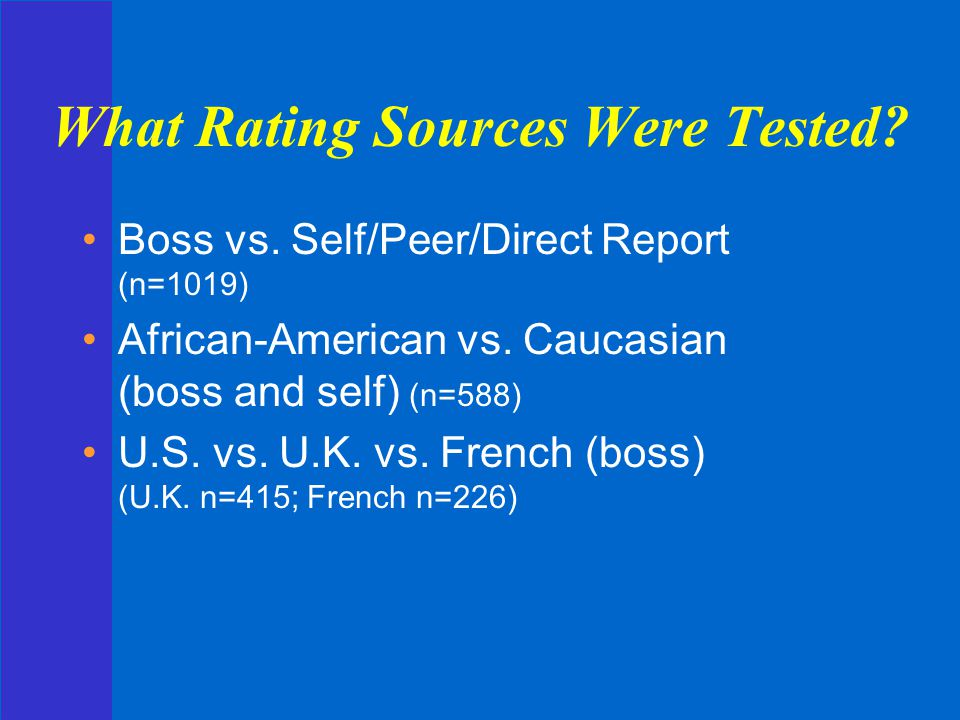 What Rating Sources Were Tested