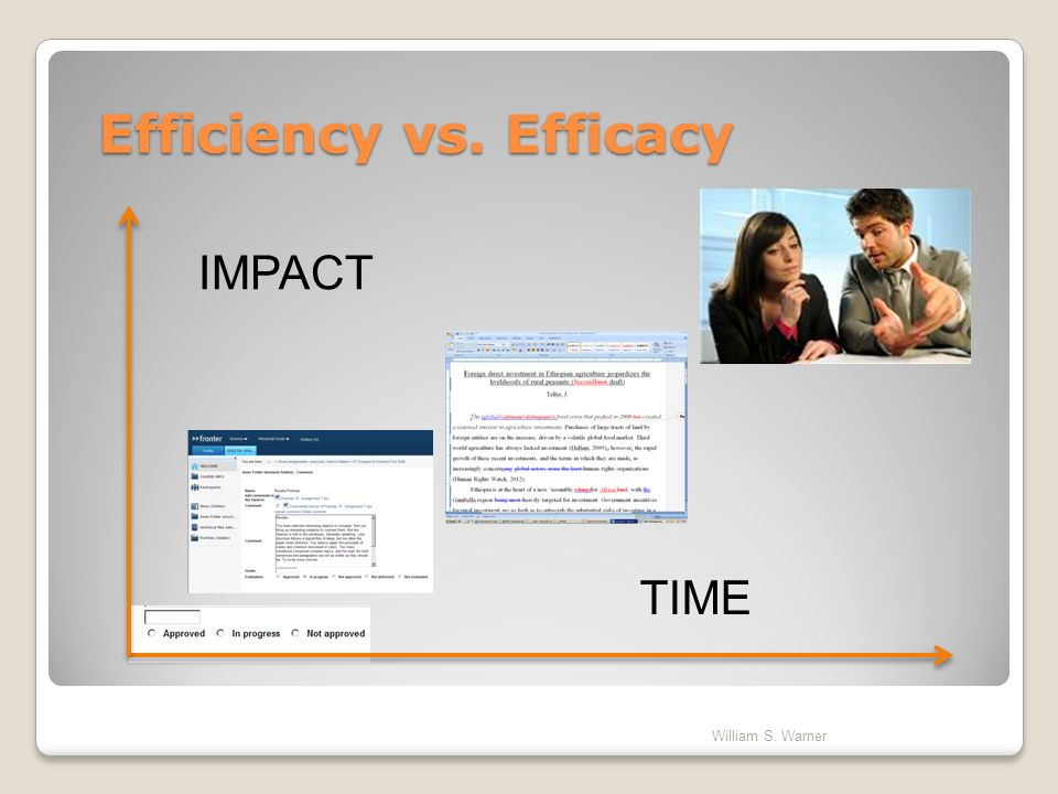 Efficiency vs. Efficacy
