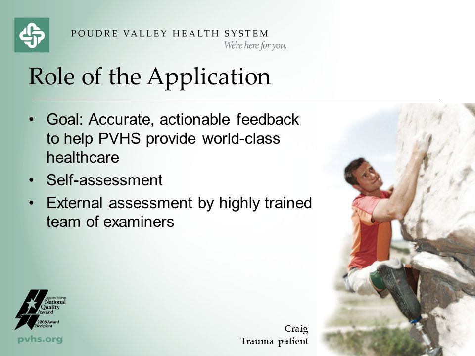 Role of the Application