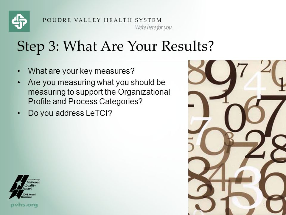 Step 3: What Are Your Results
