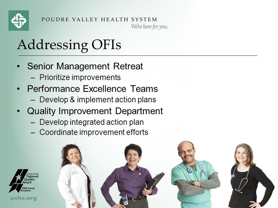 Addressing OFIs Senior Management Retreat Performance Excellence Teams
