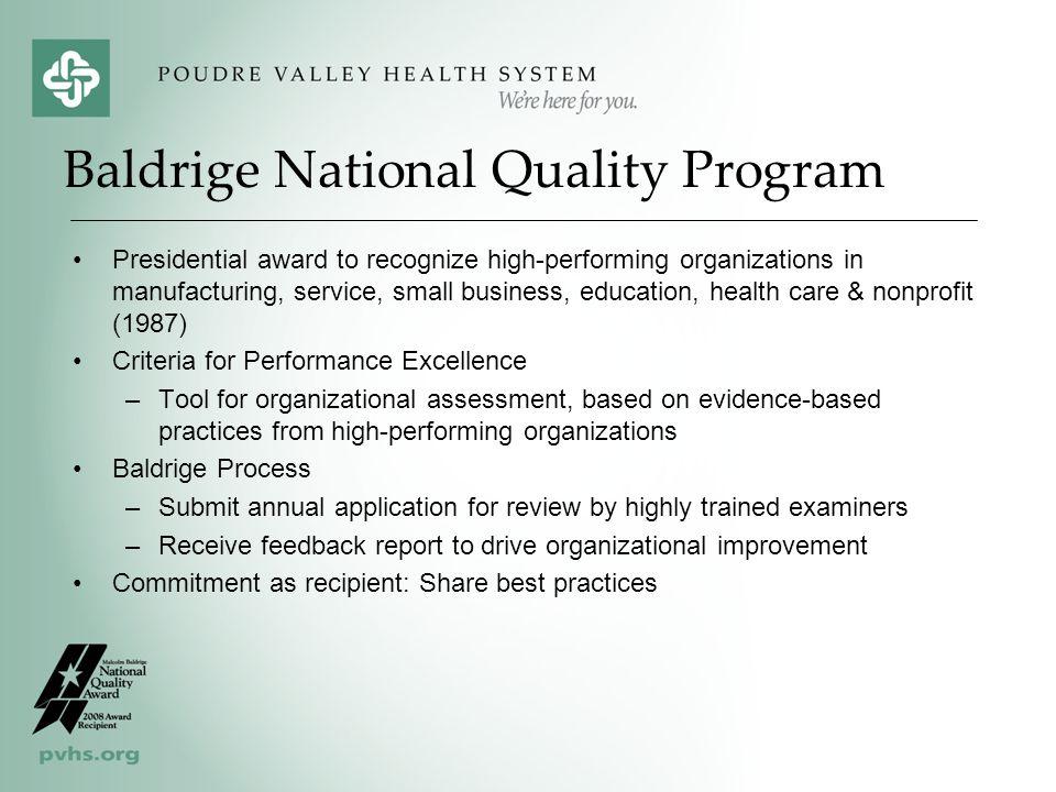 Baldrige National Quality Program