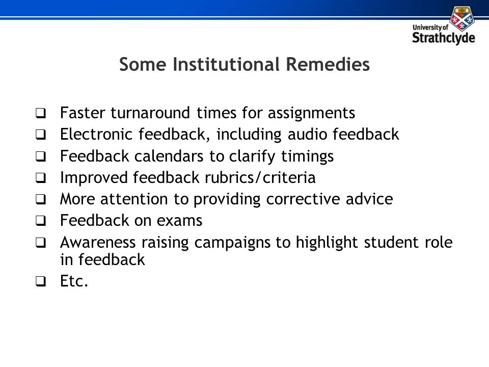 Some Institutional Remedies