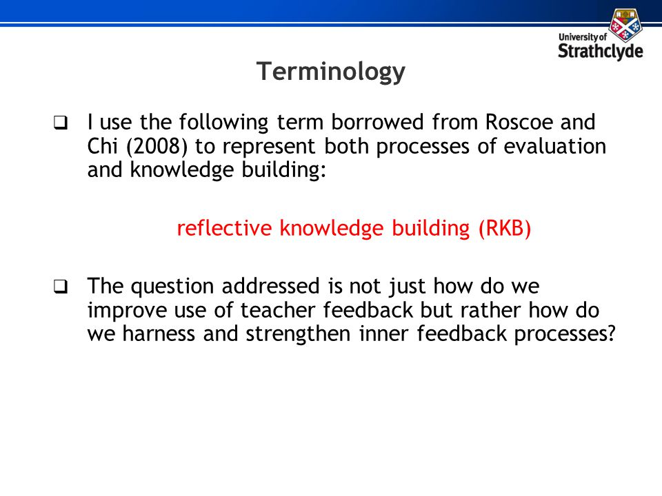 reflective knowledge building (RKB)