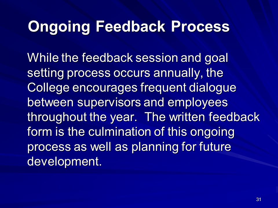 Ongoing Feedback Process