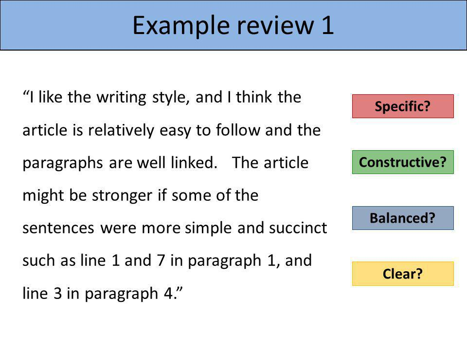 Example review 1