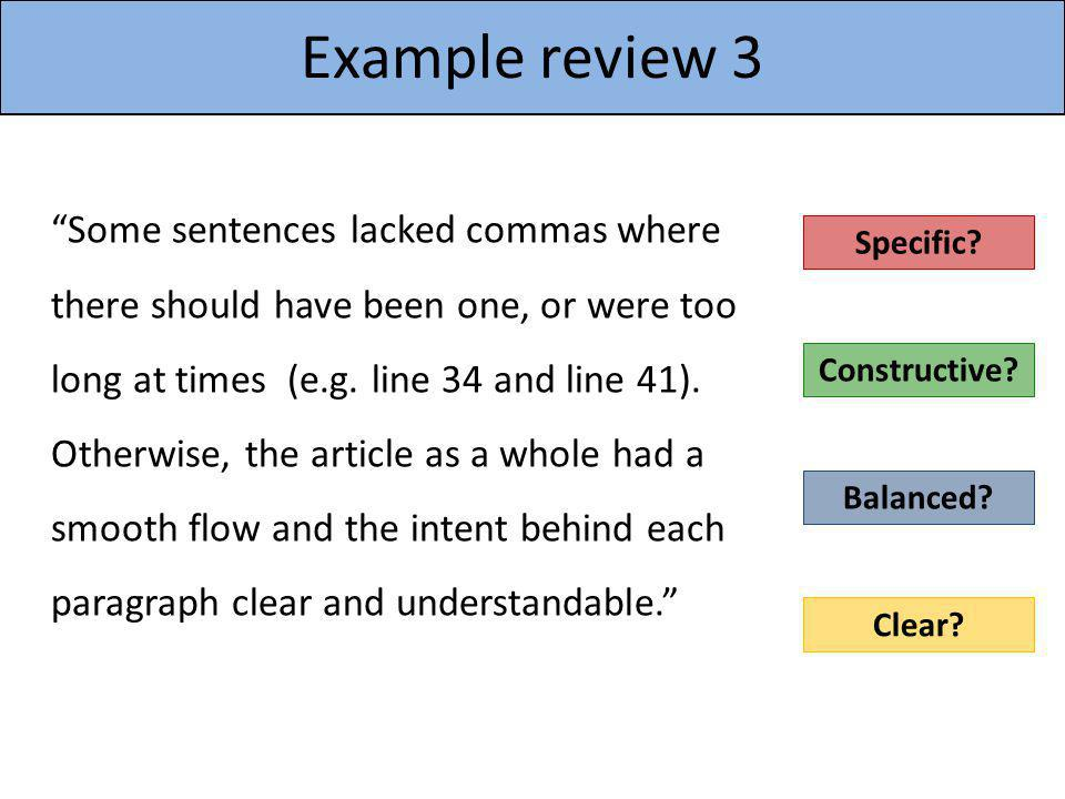 Example review 3