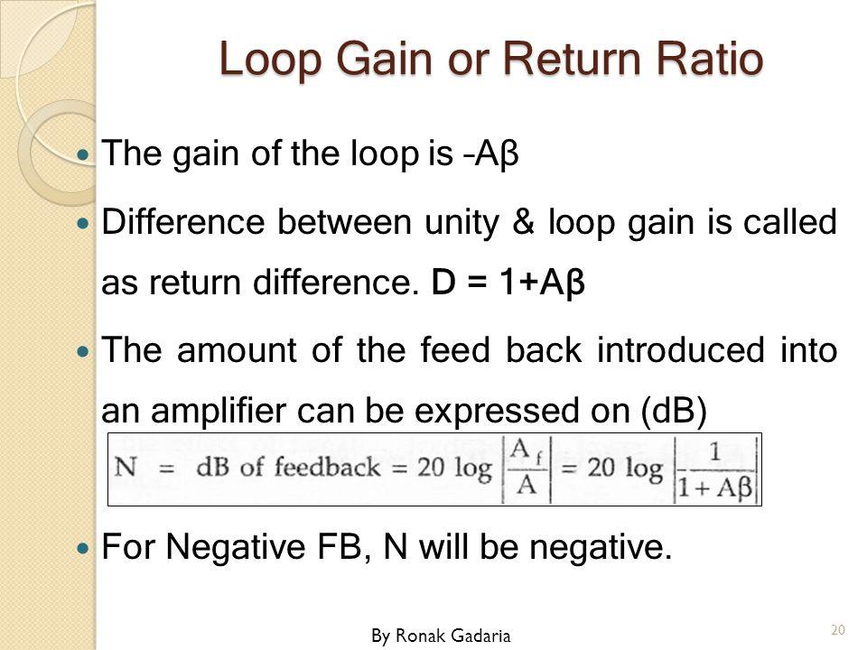 Loop Gain or Return Ratio