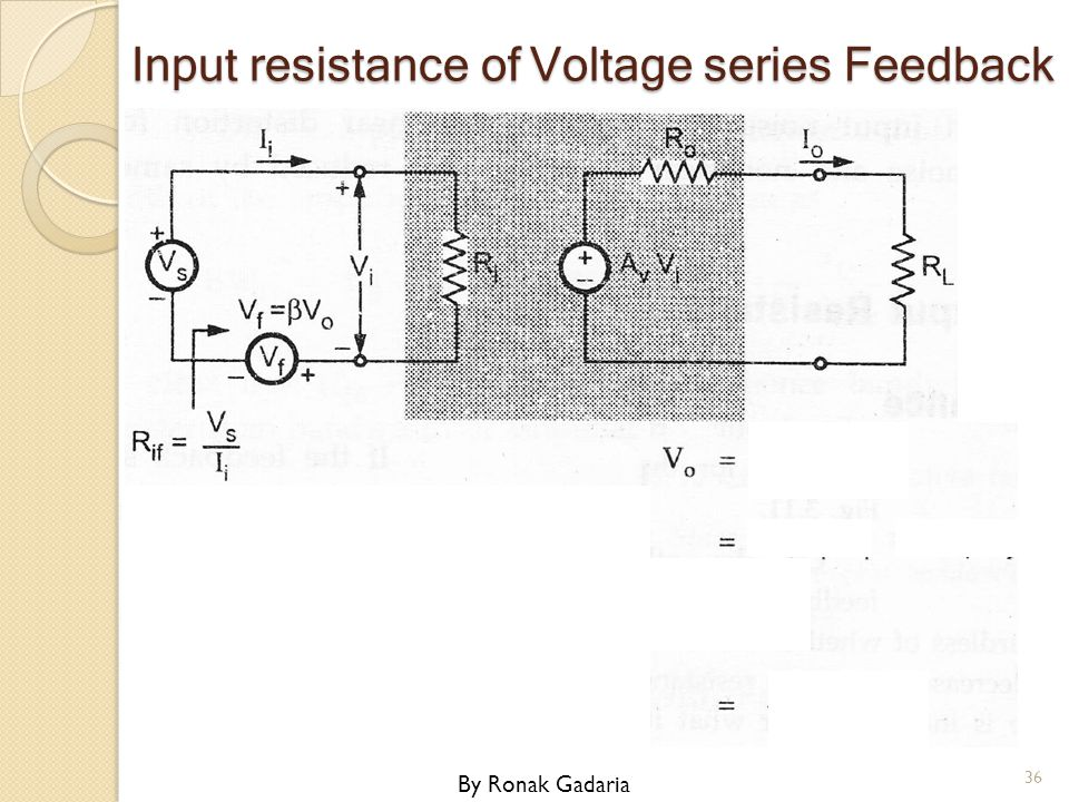 Input resistance of Voltage series Feedback