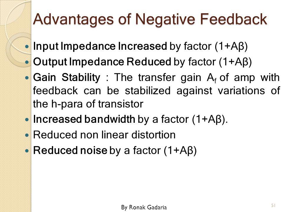 Advantages of Negative Feedback