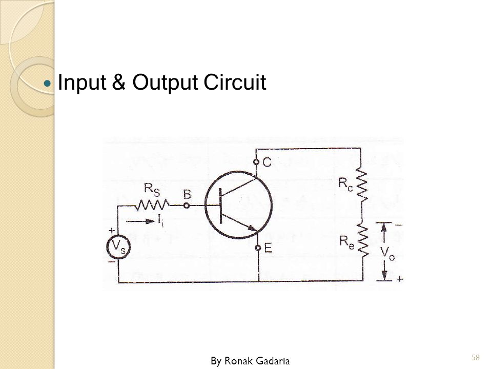 Input & Output Circuit By Ronak Gadaria