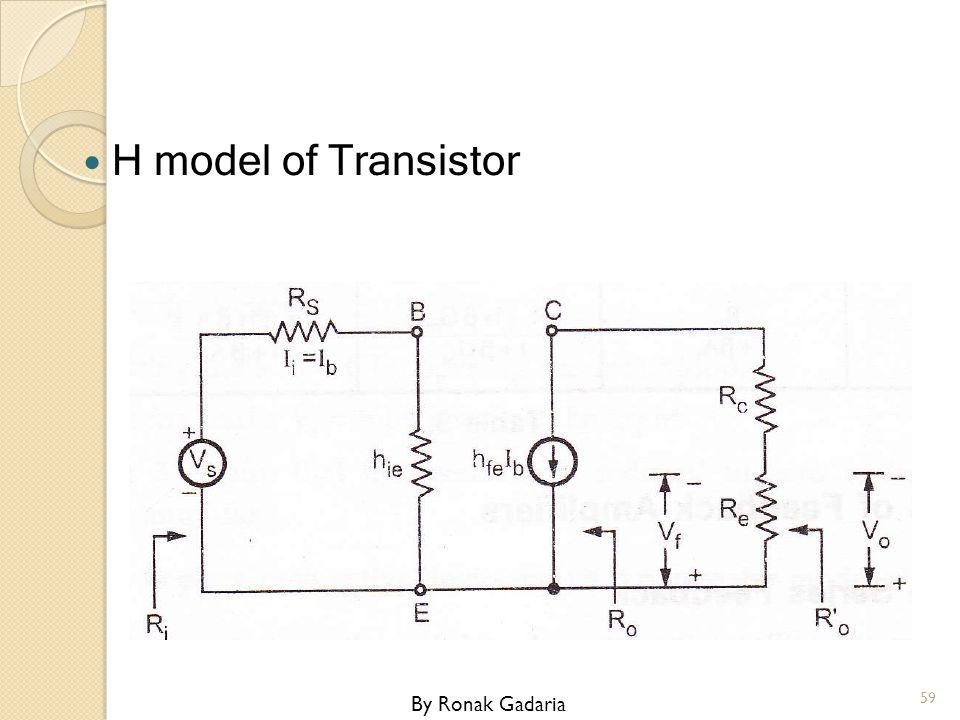 H model of Transistor By Ronak Gadaria
