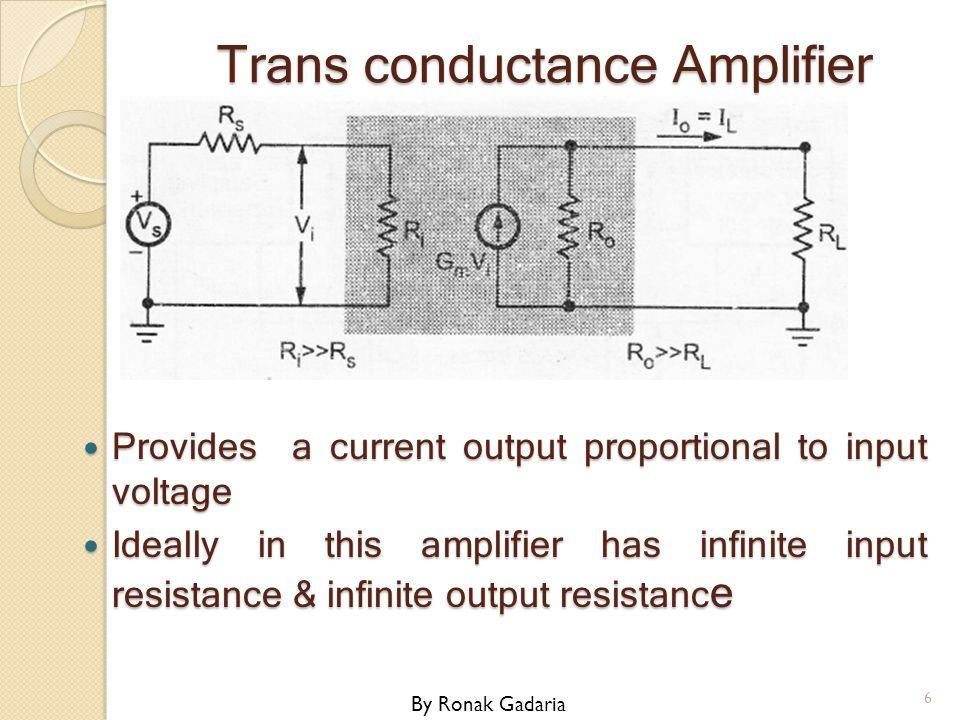 Trans conductance Amplifier