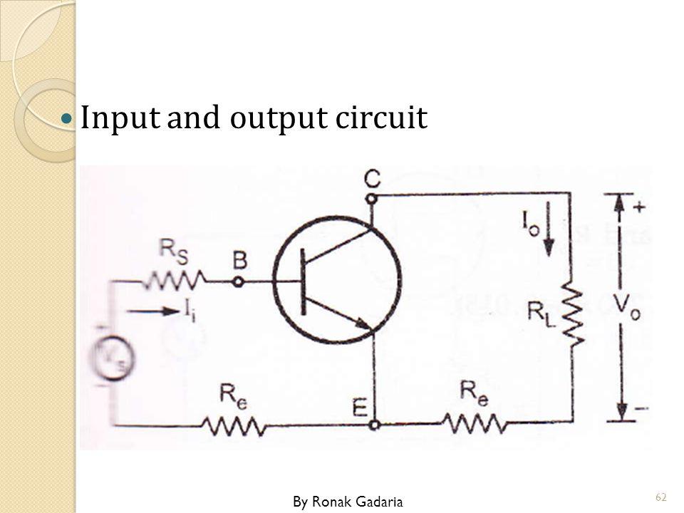 Input and output circuit