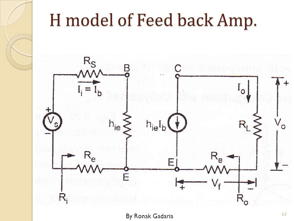 H model of Feed back Amp. By Ronak Gadaria