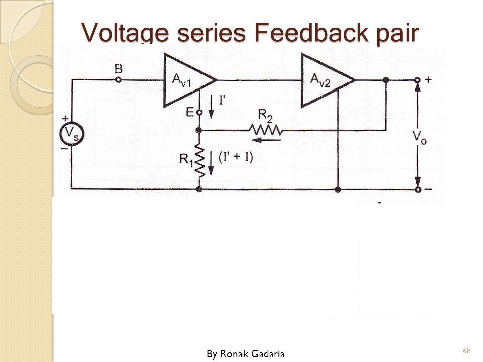 Voltage series Feedback pair