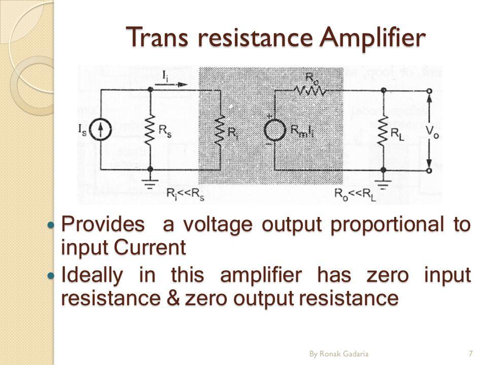 Trans resistance Amplifier