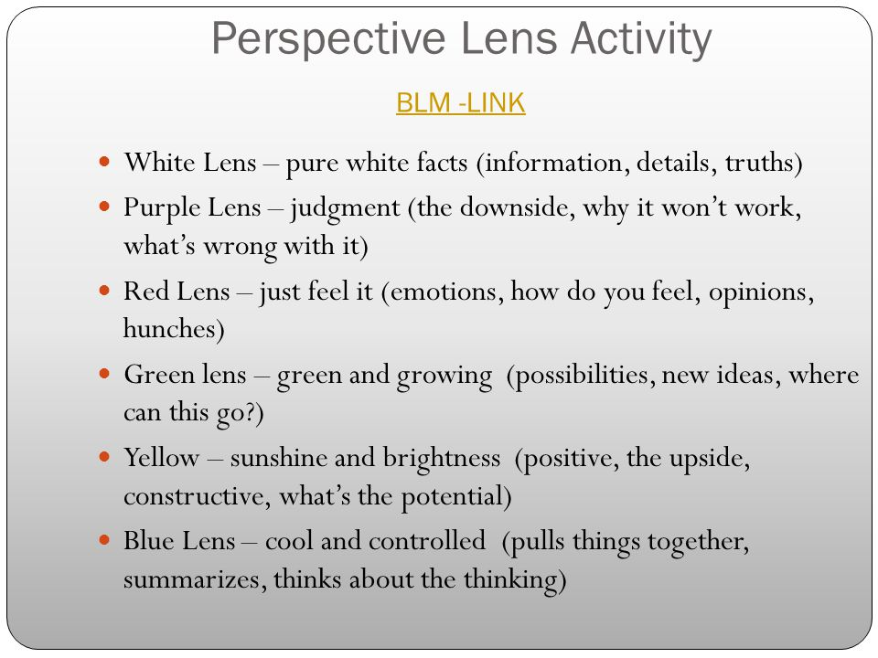 Perspective Lens Activity BLM -LINK