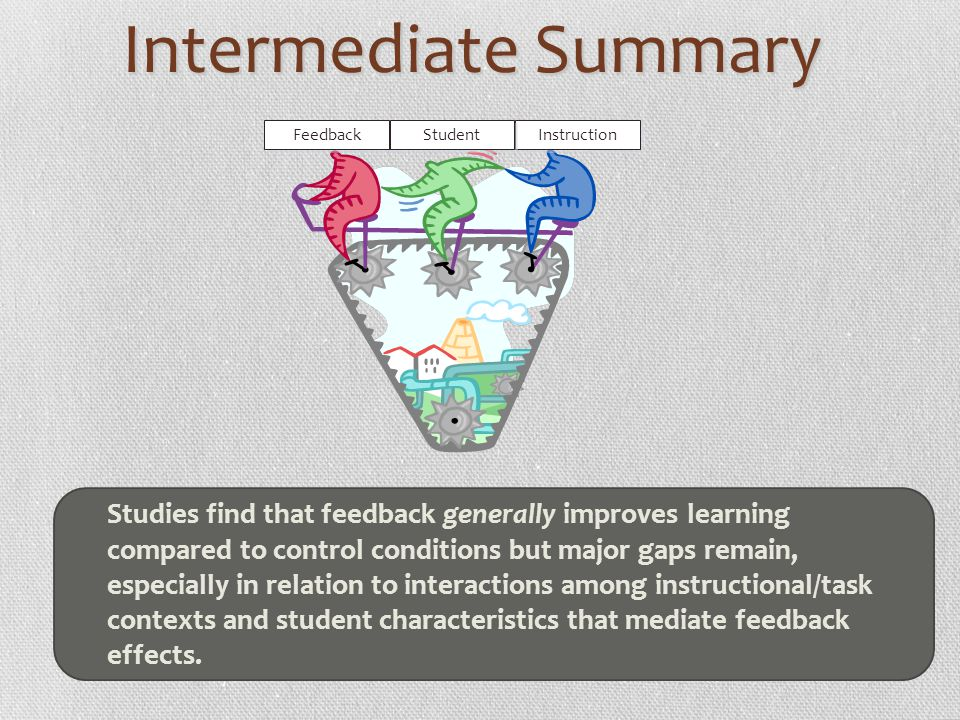 Intermediate Summary Feedback. Student. Instruction.