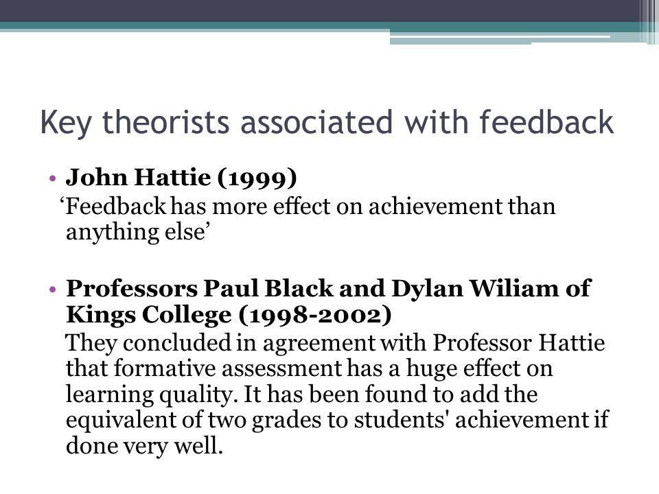 Key theorists associated with feedback