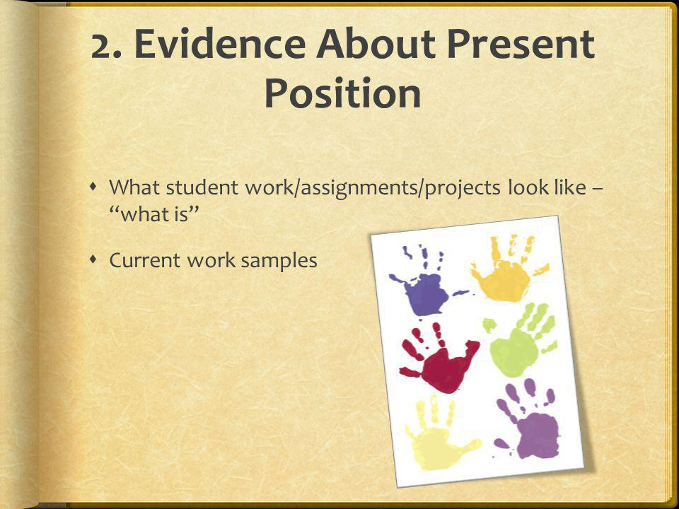 2. Evidence About Present Position