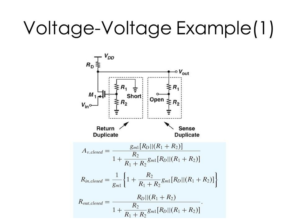 Voltage-Voltage Example(1)