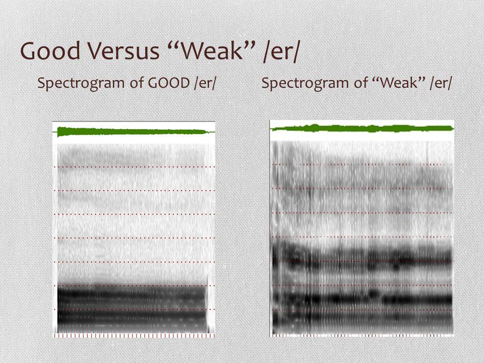 Good Versus Weak /er/