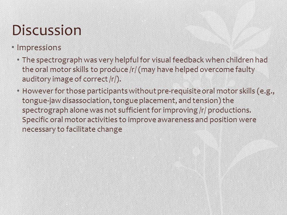 Discussion Impressions