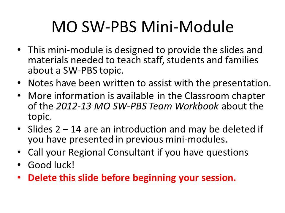 MO SW-PBS Mini-Module