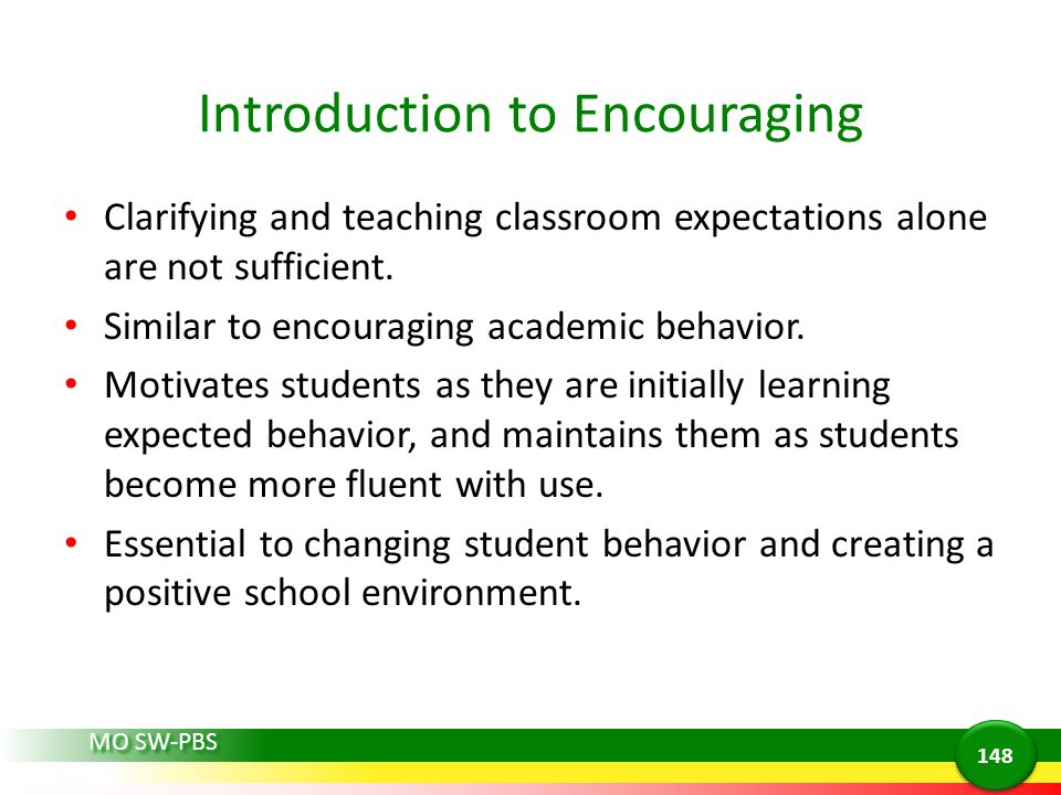 Introduction to Encouraging