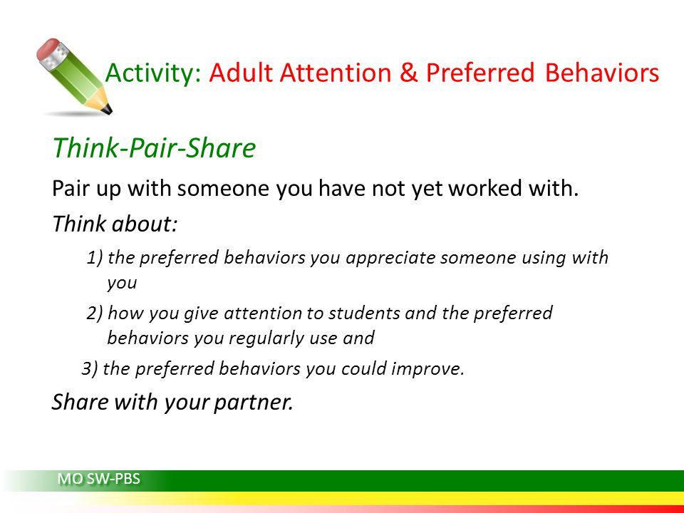 Activity: Adult Attention & Preferred Behaviors