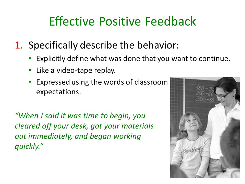 Effective Positive Feedback