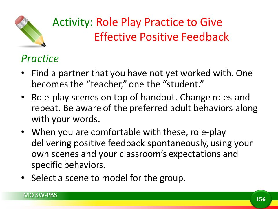 Activity: Role Play Practice to Give Effective Positive Feedback