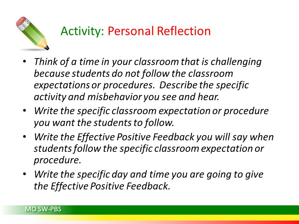 Activity: Personal Reflection